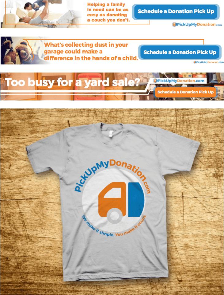 PickUpMyDonation Ad Tshirt Design