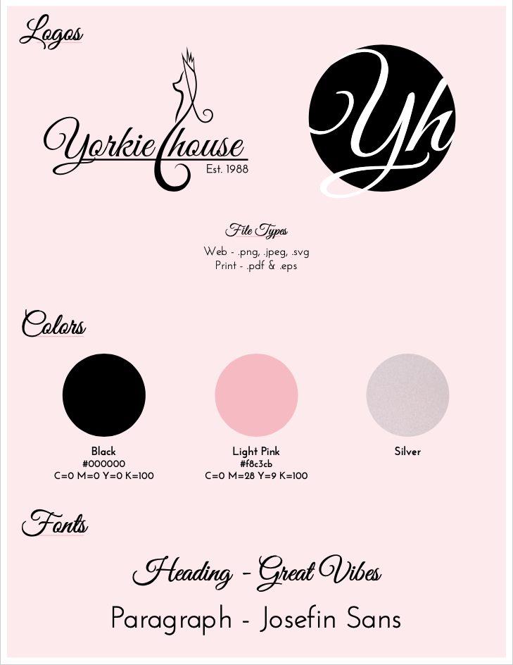 YorkieHouse Cleveland, TN Abridged Branding Guidelines