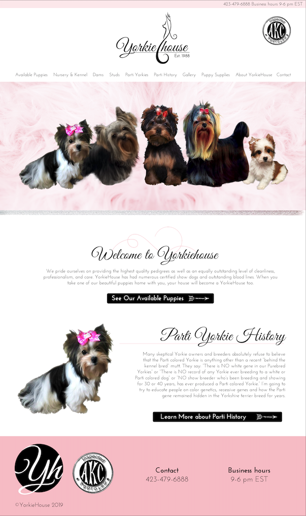 YorkieHouse Cleveland, TN Web Design