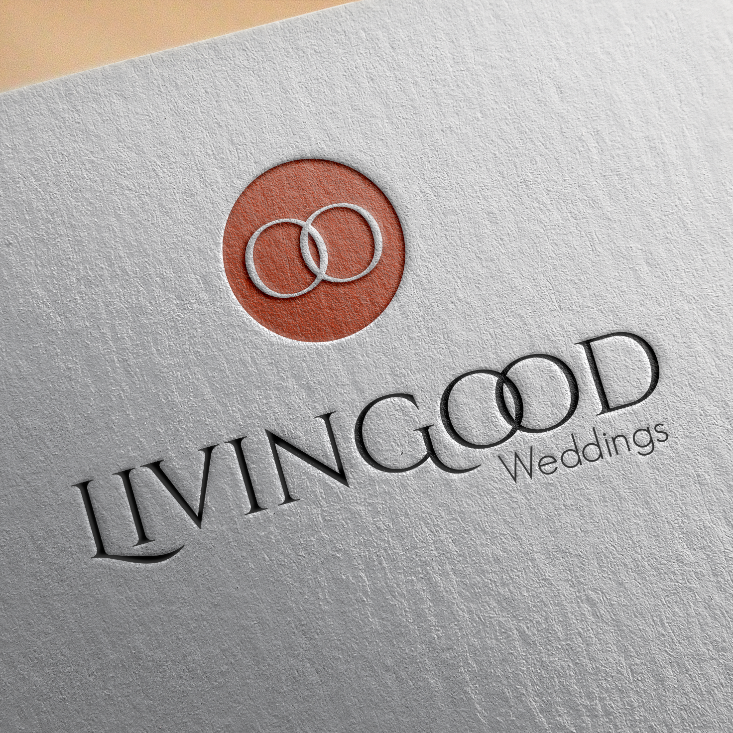 Livingood Weddings Mockup Logo Design Mockup
