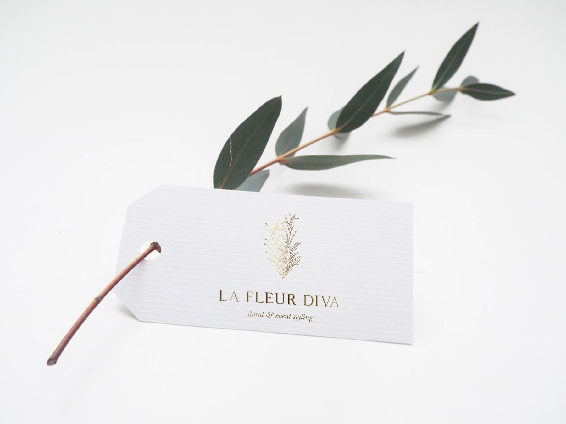 La Fleur Diva Logo Design Mockup