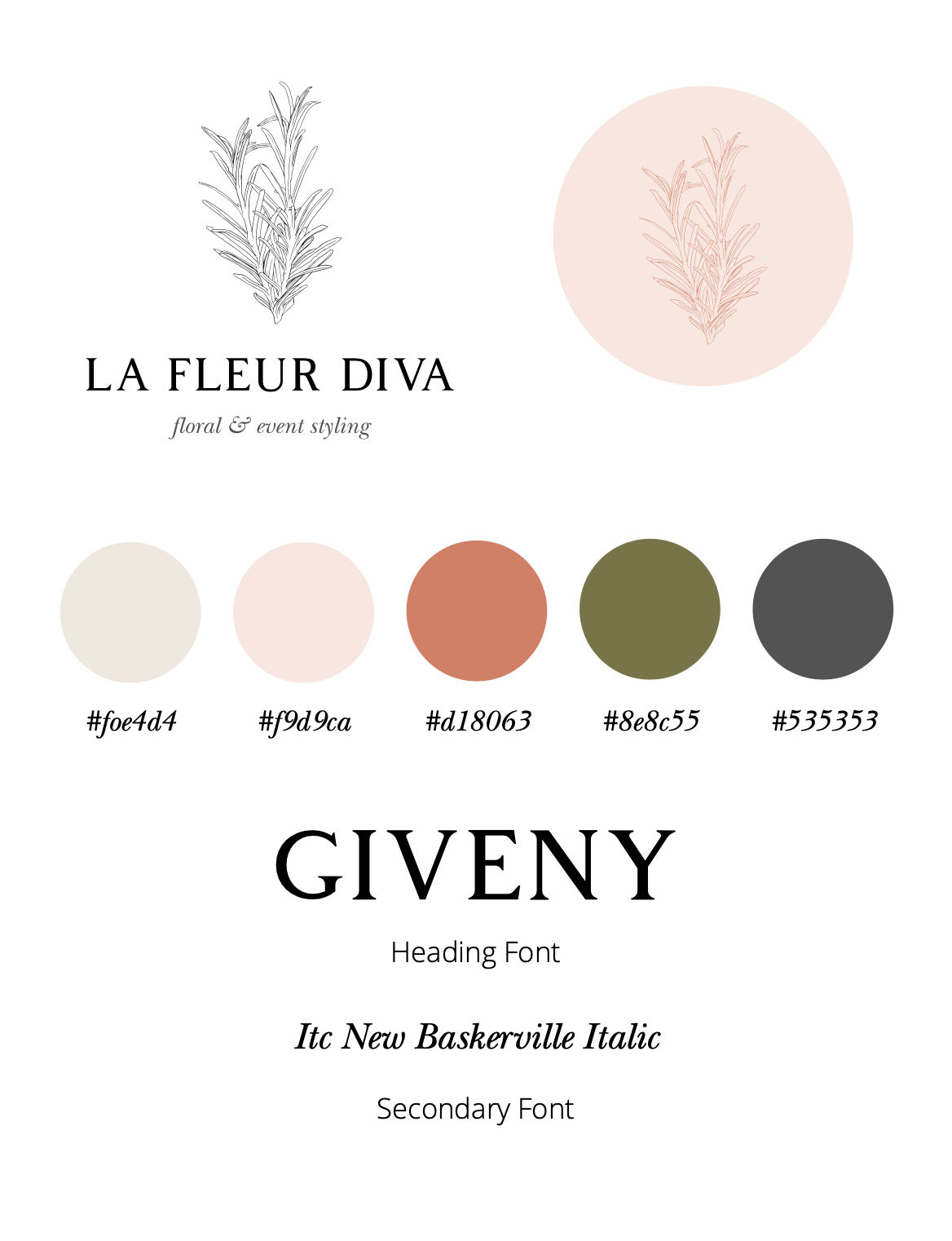 La Fleur Diva Branding Style Guide